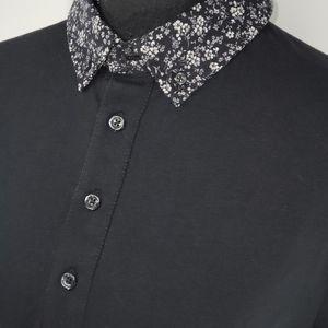 Express. Mens Flex Fit Floral Collar Polo